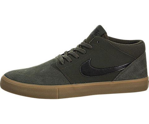 b2a73fc724fa Nike SB Solarsoft Portmore II Mid Men s Skateboarding Shoe - Olive Image