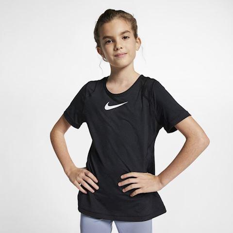 Nike Pro Older Kids' (Girls') Short-Sleeve Top - Black Image