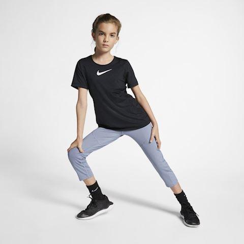 Nike Pro Older Kids' (Girls') Short-Sleeve Top - Black Image 5