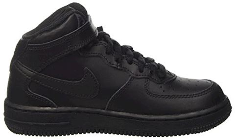 Nike Air Force 1 Mid Younger Kids' Shoe - Black Image 6