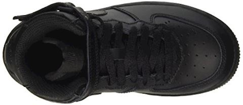 Nike Air Force 1 Mid Younger Kids' Shoe - Black Image 7