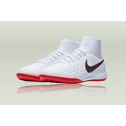 Nike Jr. MagistaX Obra II Academy Dynamic Fit IC Younger/Older Kids'Indoor/Court Football Shoe - White Image 3