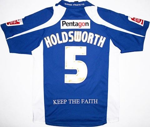 Carbrini Oldham Athletic Mens SS Home Shirt 2009/10 Image