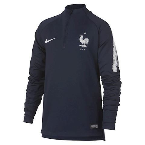 Nike FFF Dri-FIT Squad Drill Older Kids' Long-Sleeve Football Top - Blue Image