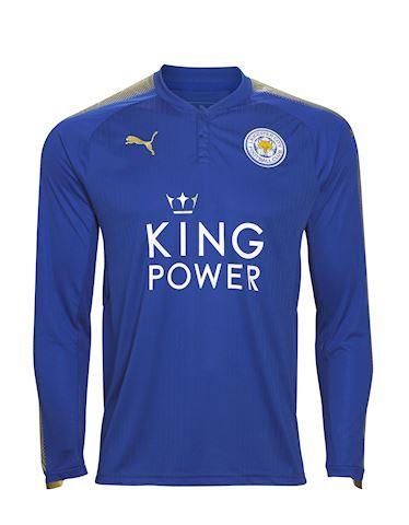 Puma Leicester City Mens LS Home Shirt 2017/18 Image
