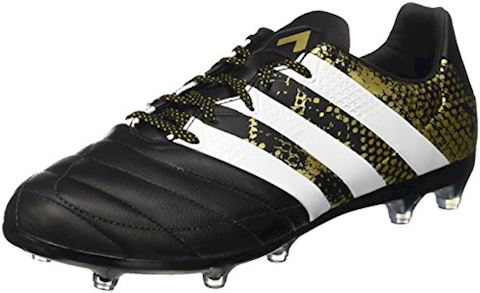 brand new 39565 90b11 adidas ACE 16.2 FG AG Leather Core Black White Gold Metallic