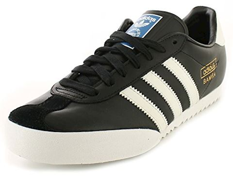 d83de425a48db adidas Originals Mens Bamba Trainers Black/Running White/Metallic Gold Image