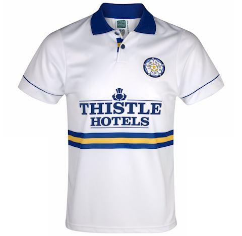 Score Draw Leeds United Mens SS Home Shirt 1994/95