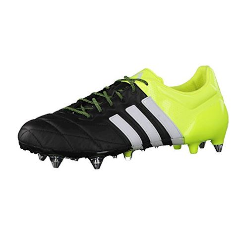 huge selection of 8a13d 8be6a adidas ACE 15.1 SG Leather Core Black White Solar Yellow