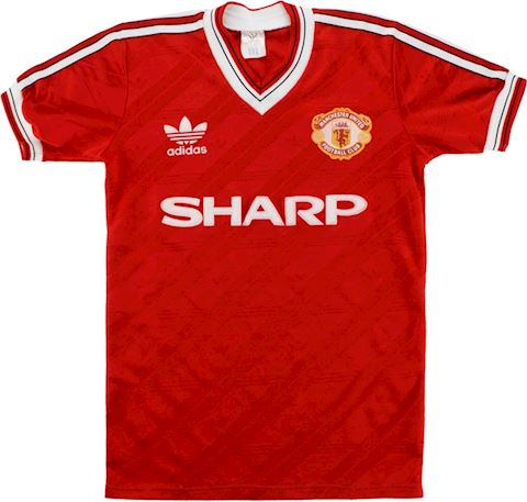 adidas Manchester United Mens SS Home Shirt 1986/88 Image 2