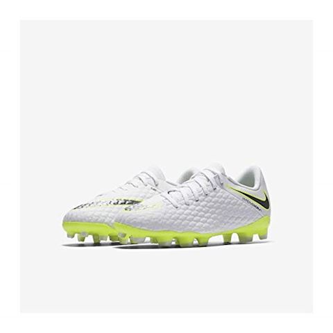 Nike Jr. Hypervenom Phantom III Academy Younger/Older Kids'Firm-Ground Football Boot - White Image 4