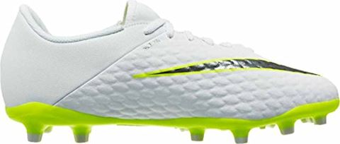Nike Jr. Hypervenom Phantom III Academy Younger/Older Kids'Firm-Ground Football Boot - White Image 8