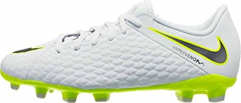 Nike Jr. Hypervenom Phantom III Academy Younger/Older Kids'Firm-Ground Football Boot - White Image 9