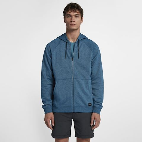 Nike Hurley Crone Hooded Full-Zip Men's Fleece Hoodie - Blue