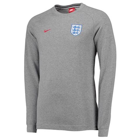 7c2837633 Nike England Sweatshirt NSW Crew FT Authentic - Carbon Heather/Dark  Grey/Gym Red