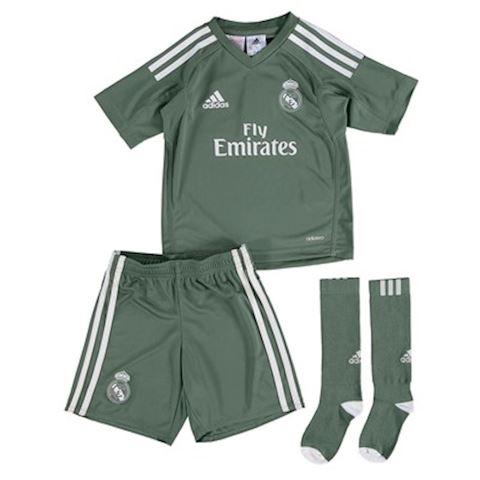 adidas Real Madrid Kids SS Goalkeeper Home Mini Kit 2017/18 Image