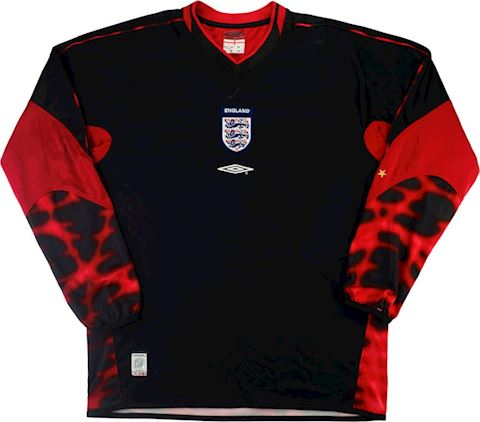 Umbro England Kids LS Goalkeeper Home Shirt 2003 Image 2