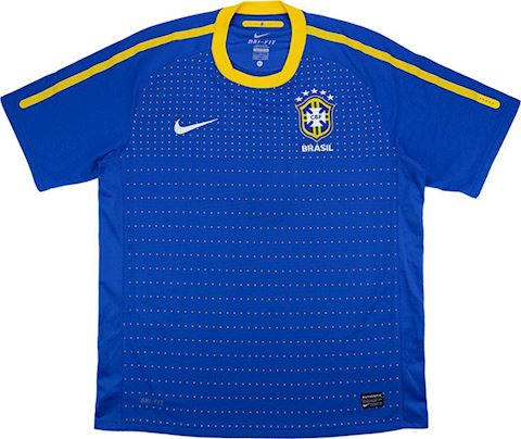 Nike Brazil Kids SS Away Shirt 2010 Image