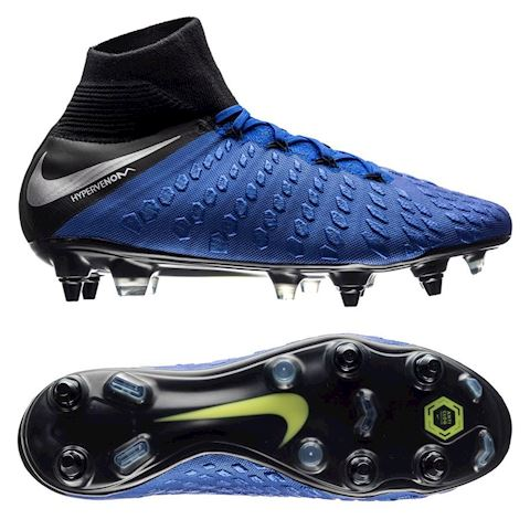 buy popular c07ca b0cf1 Nike Hypervenom III Elite Dynamic Fit Anti-Clog SG-PRO Soft-Ground Football  Boot - Blue