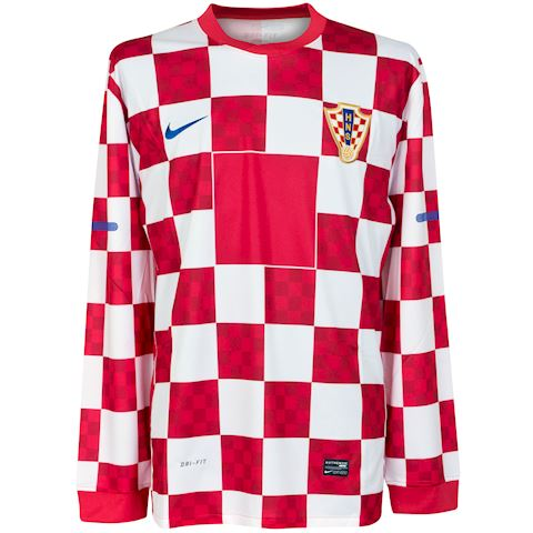 Nike Croatia Mens LS Player Issue Home Shirt 2010 Image