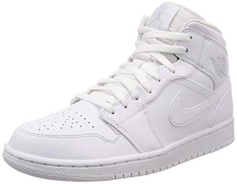 Nike Air Jordan 1 Mid Men's Shoe - White Image