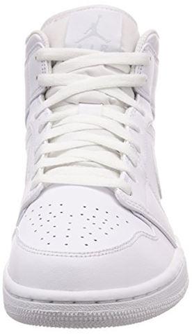 Nike Air Jordan 1 Mid Men's Shoe - White Image 4