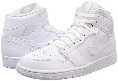 Nike Air Jordan 1 Mid Men's Shoe - White Image 5