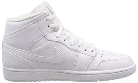 Nike Air Jordan 1 Mid Men's Shoe - White Image 6