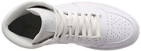 Nike Air Jordan 1 Mid Men's Shoe - White Image 7