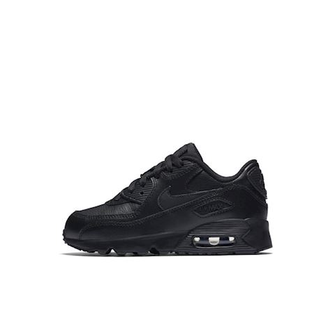 Nike Air Max 90 Leather Younger Kids' Shoe - Black Image