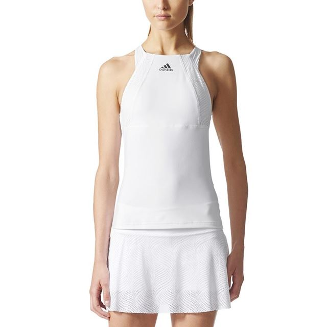 82a5428f067 adidas Womens London Tank Top White/Night Metallic | BP9397 | FOOTY.COM