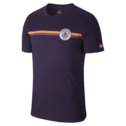 Nike Manchester City FC Crest Men's T-Shirt - Purple Image