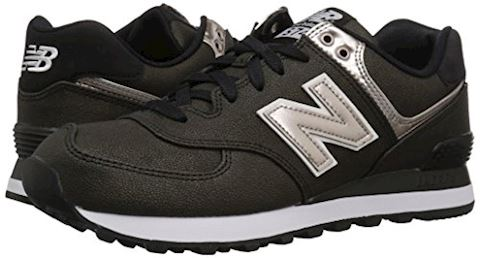 New Balance  WL574  women's Shoes (Trainers) in Black Image 6