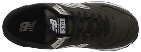 New Balance  WL574  women's Shoes (Trainers) in Black Image 8