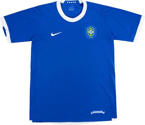 Nike Brazil Kids SS Away Shirt 2006 Image 2
