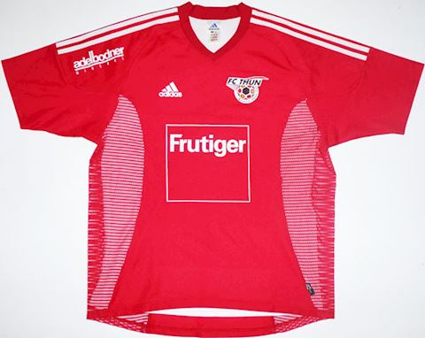 adidas FC Thun Mens SS Player Issue Home Shirt 2002/03 Image
