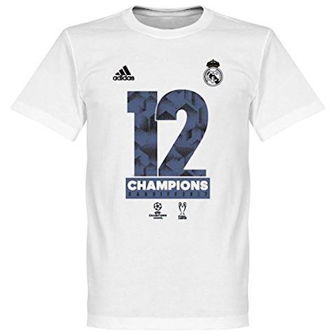 adidas Real Madrid UEFA Champions League Winners 2017 T-Shirt - White, White