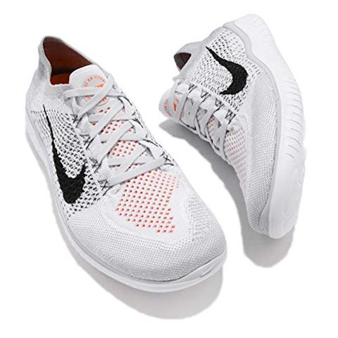 Nike Free RN Flyknit 2018 Men's Running Shoe - Silver Image 7