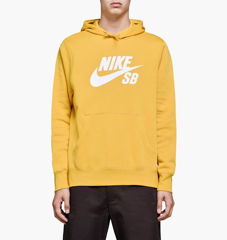 Nike SB Icon Men's Pullover Hoodie - Yellow Image