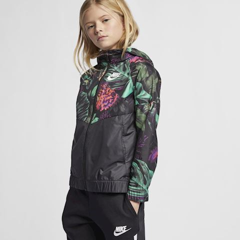 Nike Sportswear Windrunner' Floral' Older Kids' (Girls') Floral Windbreaker - Green Image