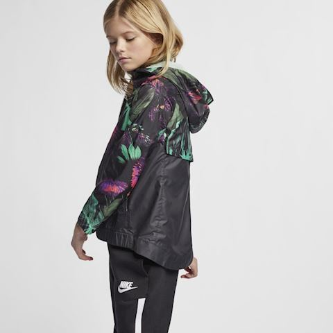 Nike Sportswear Windrunner' Floral' Older Kids' (Girls') Floral Windbreaker - Green Image 2