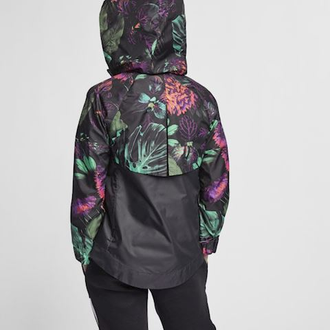 Nike Sportswear Windrunner' Floral' Older Kids' (Girls') Floral Windbreaker - Green Image 4