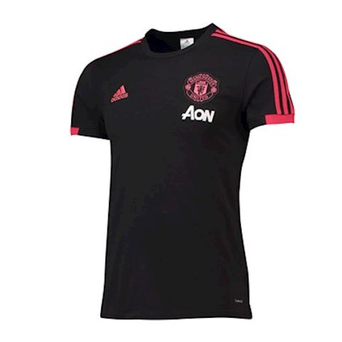 adidas Manchester United T-Shirt - Black/Red/Core Pink Image