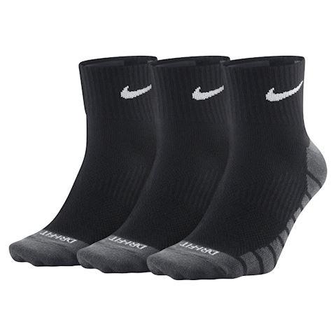 Nike Dry Lightweight Quarter Training Socks (3 Pair) - Black Image