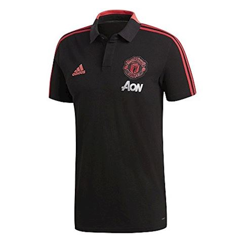 adidas Manchester United Polo Condivo - Black/Red Blast Image