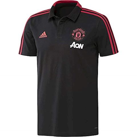 adidas Manchester United Polo Condivo - Black/Red Blast Image 4