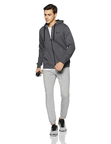 Under Armour Men's UA Rival Fleece Fitted Full Zip Hoodie Image 5