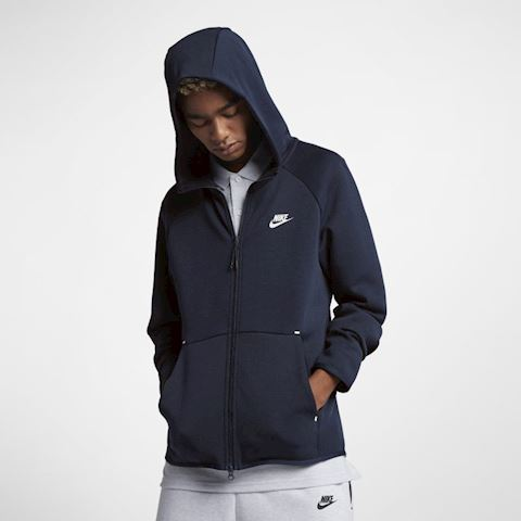 Nike Sportswear Tech Fleece Men's Full-Zip Hoodie - Blue Image