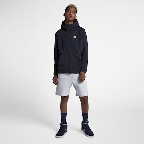 Nike Sportswear Tech Fleece Men's Full-Zip Hoodie - Blue Image 4