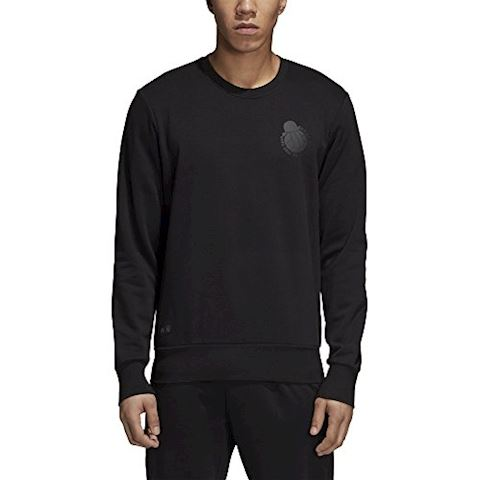 adidas Real Madrid Sweatshirt Graphic - Black Image 8